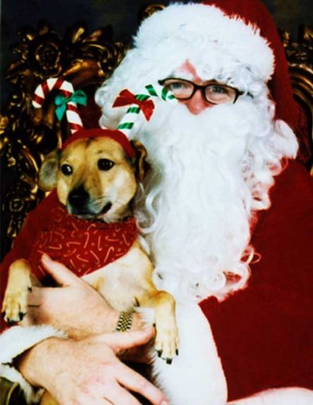 Her first Santa photo! 2002